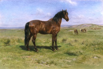 Wild Horses, 1889 by Rosa Bonheur (French, 1822 - 1899)