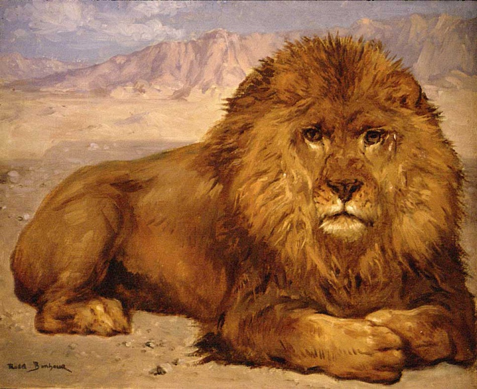 Lion at Rest, c. 1877-80 by Rosa Bonheur (French, 1822 - 1899)