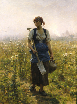 Le Matin, 1888 by Jules Breton (French, 1827 - 1906)