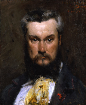 Portrait of Hector Hanoteau, 1870 by Charles-Emile-August Carolus-Duran (French, 1837 - 1917)
