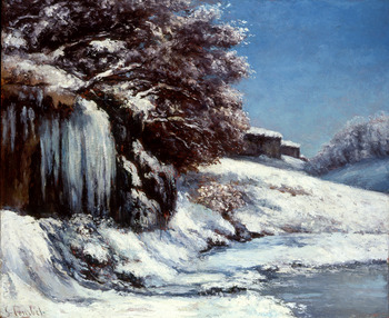 L'Hiver, Effet de Neige, c. 1864-1868 by Gustave Courbet (French, 1819 - 1877)