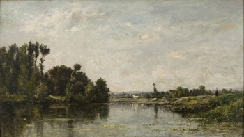 Les bords de l'Oise, 1865 by Charles François Daubigny (French, 1817 - 1878)