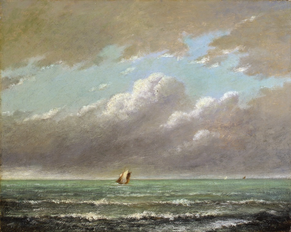 Seascape at Cayeux, c. 1870 by Jules Dupré (French, 1811 - 1869)
