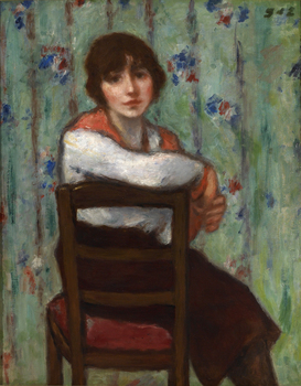 Girl with a Red Scarf by Georges d'Espagnat (French, 1870 - 1950)