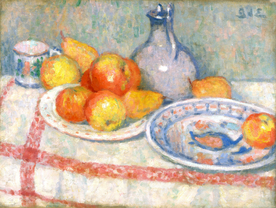 Still Life, Apples and Pears (Nature Morte, Pommes et Poires), 1899 by Georges d'Espagnat (French, 1870 - 1950)
