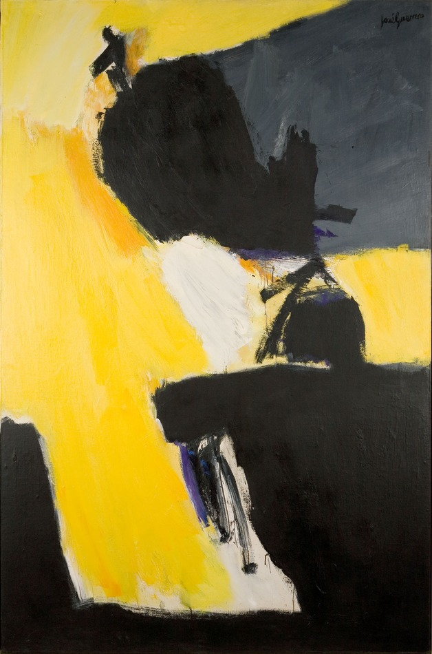 Antojos Negros con Amarillos (Black Whims with Yellow), 1966 by José Guerrero (Spanish, 1914 - 1991)
