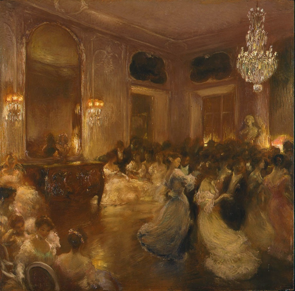 The Ball by Gaston la Touche (French, 1854 - 1913)