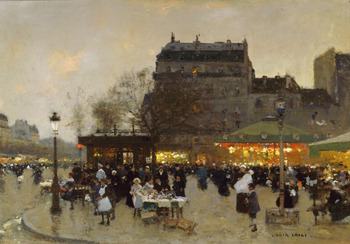 Carousel at the Porte Dorée by François-Joseph Luigi Loir (French, 1845 - 1916)