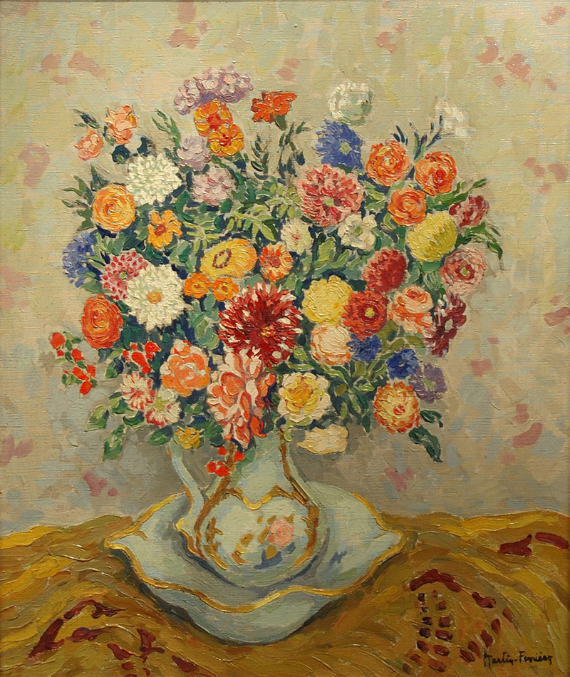 Still Life, Bouquet in a Pitcher by Jacques Martin-Ferrières (French, 1893 - 1972)
