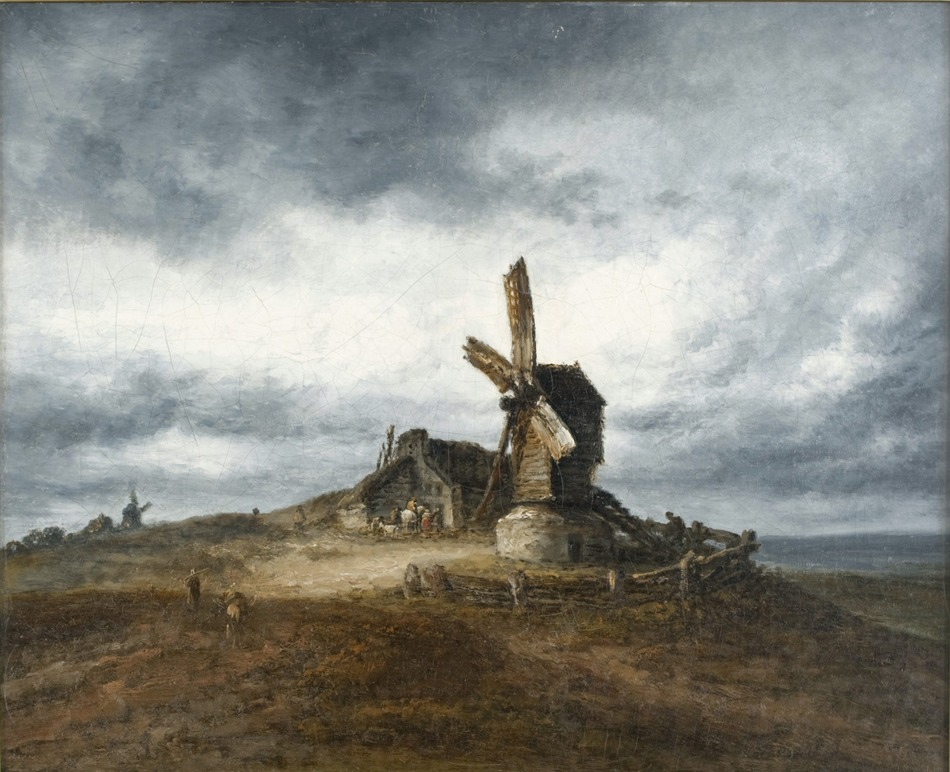 Windmills at Montmartre by Georges Michel (French, 1763 - 1843)