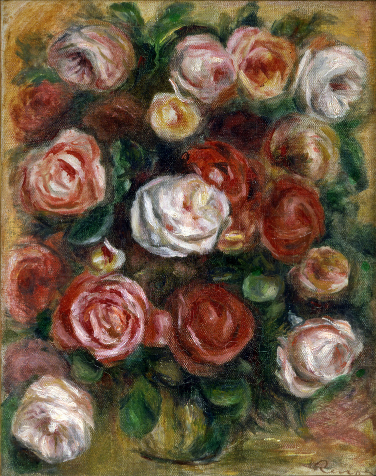 Vase de Roses by Pierre-Auguste Renoir (French, 1841 - 1919)