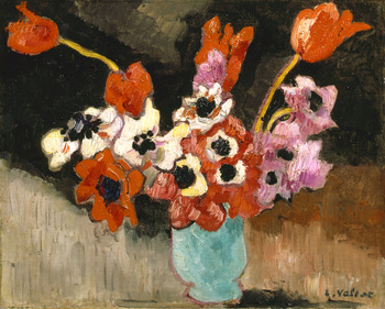 Blue Vase, Anemones, 1941 by Louis Valtat (French, 1869 - 1952)