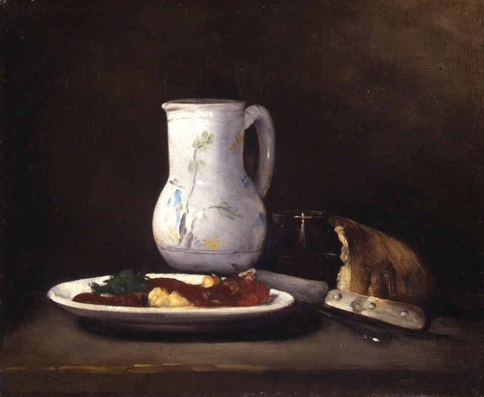 Still life, 1861 by Théodule Augustin Ribot (French, 1823 - 1891)