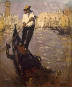 Le Gondolier by Pierre Eugène Montezin (French, 1874 - 1946)