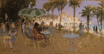 The Casino of Nice by Pierre Eugène Montezin (French, 1874 - 1946)