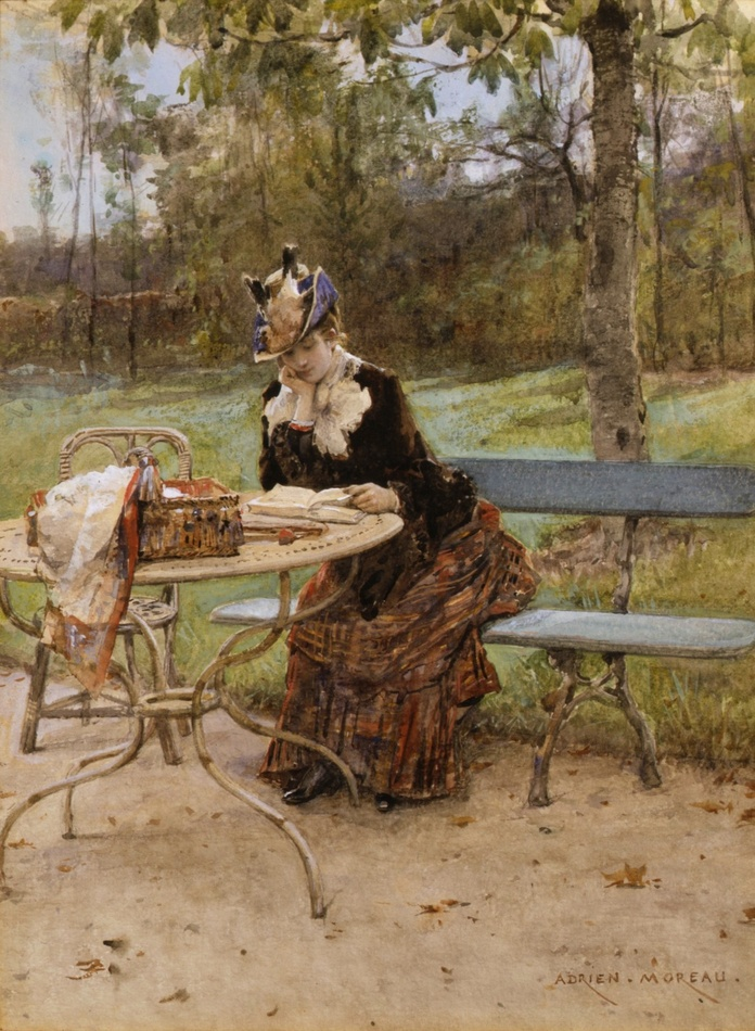 In the Park by Adrien Moreau (French, 1843 - 1906)