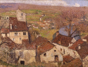 Saint Cirq Lapopie, c. 1916 by Henri Martin (French, 1860 - 1943)