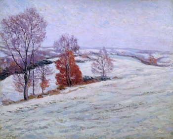 La Niege a Crozant, 1895 by Armand Guillaumin (French, 1841 - 1927)