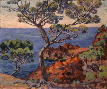 A View of a Bay at Agay by Armand Guillaumin (French, 1841 - 1927)