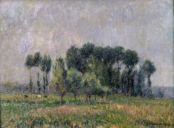 Peupliers au Printemps (Poplars in Springtime), 1905 by Gustave Loiseau (French, 1865 - 1935)
