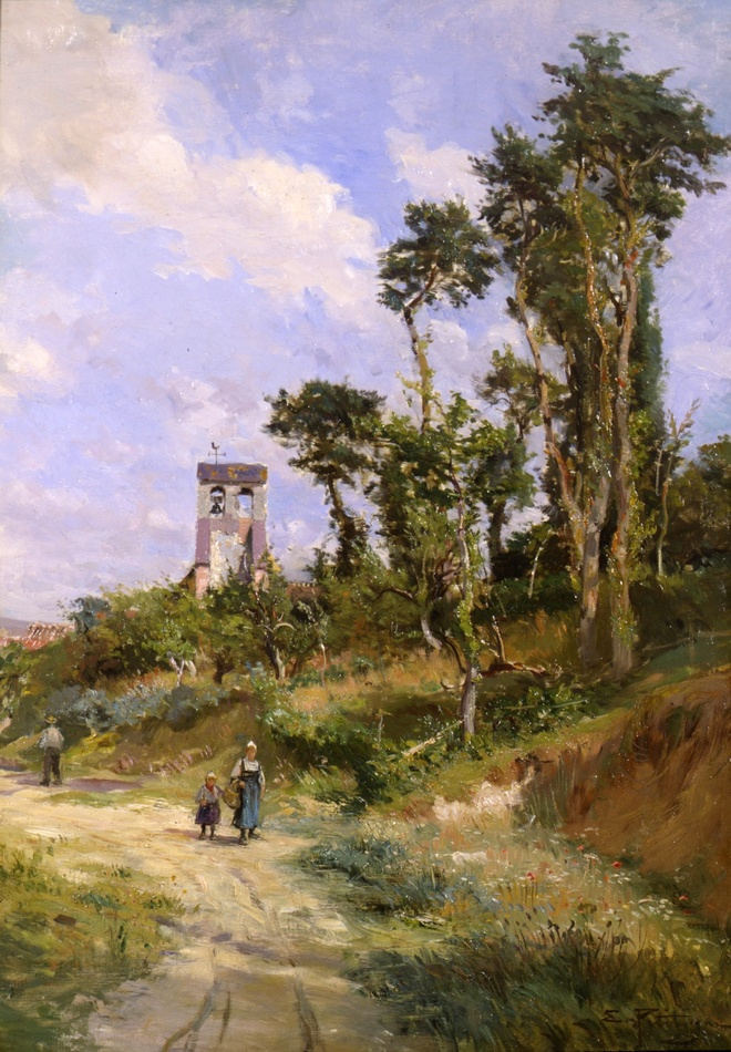 Going to Market by Edmond Petitjean (French, 1844 - 1925)