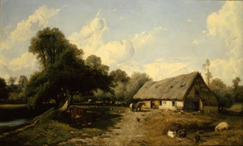 The Barnyard, 1843 by Jules Dupré (French, 1811 - 1869)
