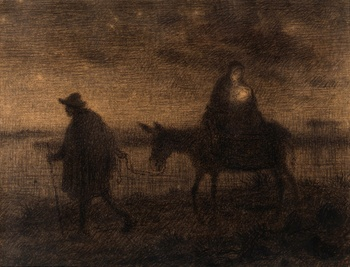 The Flight into Egypt, c. 1864 by Jean-François Millet (French, 1814 - 1875)