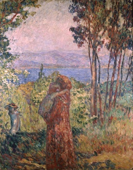 Promenade à Saint Tropez, 1906 by Henri Lebasque (French, 1865 - 1937)