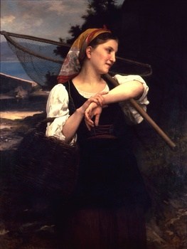 Pêcheuse, 1872 by William Adolphe Bouguereau (French, 1825 - 1905)