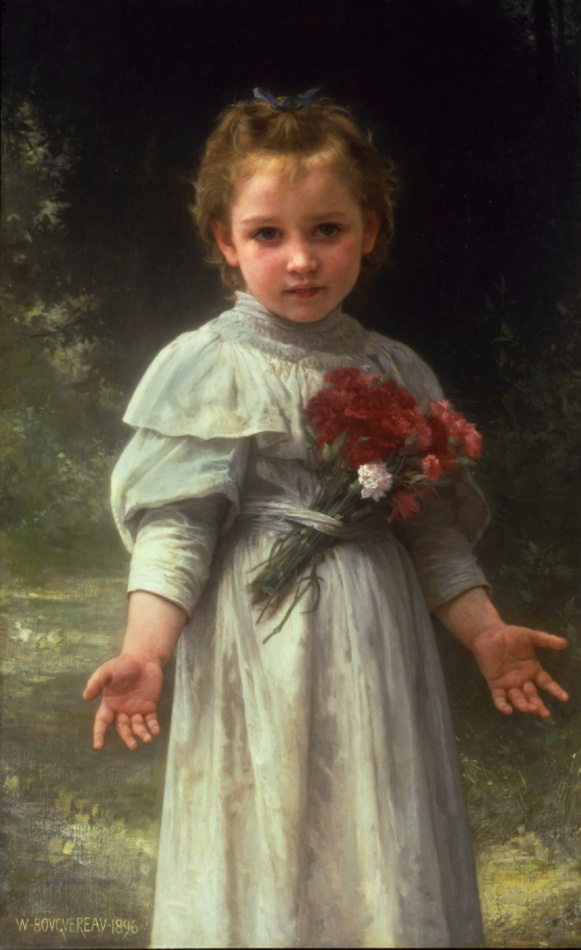 Sourire d'avril (April Smile), 1896 by William Adolphe Bouguereau (French, 1825 - 1905)