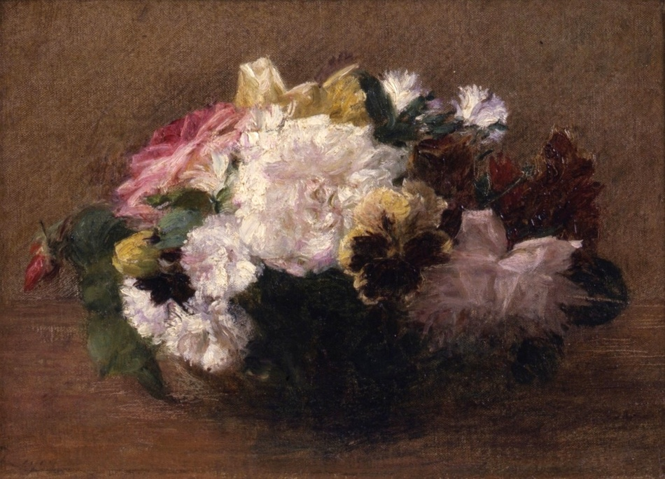 Spring Flowers in a bowl by Victoria Dubourg Fantin-Latour (French, 1840 - 1926)