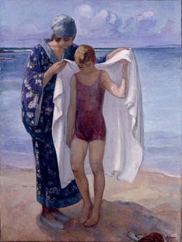 La Sortie de Bain, Prefailles, 1922 by Henri Lebasque (French, 1865 - 1937)