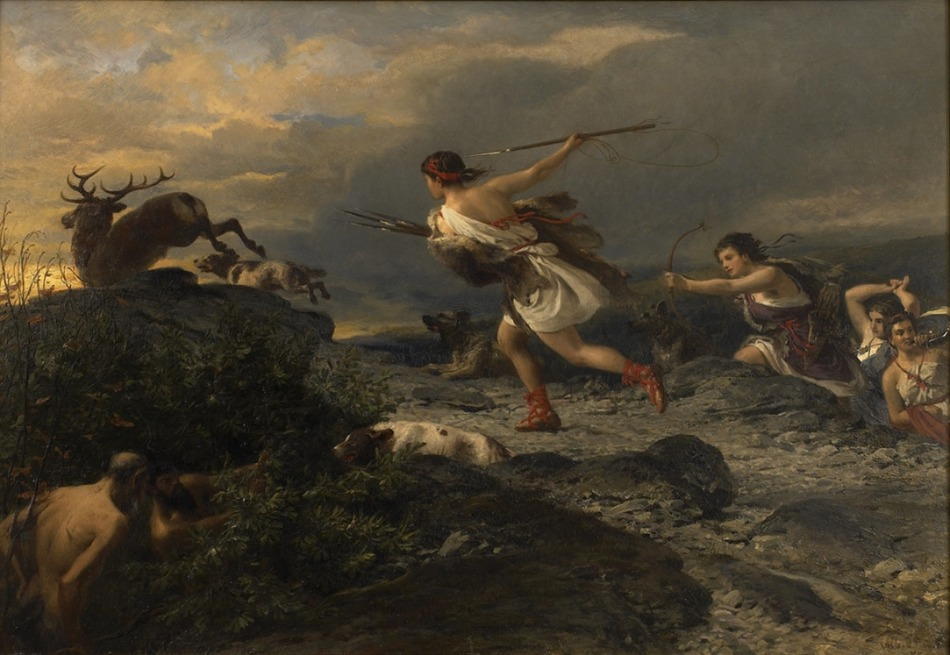Diana the Huntress, c. 1870 by Nikolaus Baur (German, 1816 - 1879)