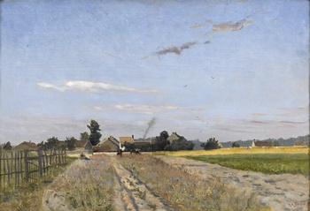 Les Champs à l'orée du Village (Fields at the edge of the village), 1876 by Hippolyte Camille Delpy (French, 1842 - 1910)