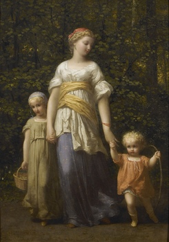 Promenade avec les Enfants  by Jean Louis Hamon (French, 1821 - 1874)