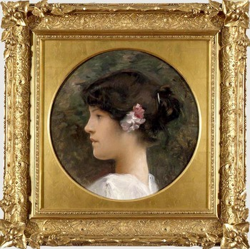 Profile of Young Girl, 1905 by Julius Leblanc Stewart (American, 1855 - 1919)