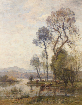 Paysage by Louis-Aimé  Japy (French, 1840 - 1916)