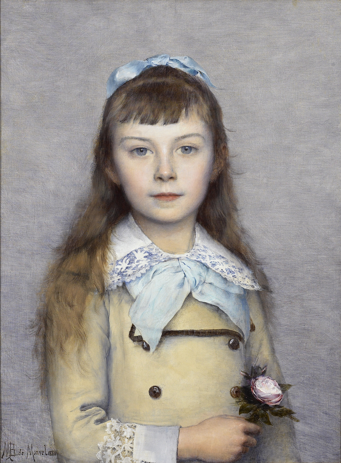 Portrait of a Young Girl, 1880 by Louis-Maurice Boutet de Monvel (French, 1851 - 1913)