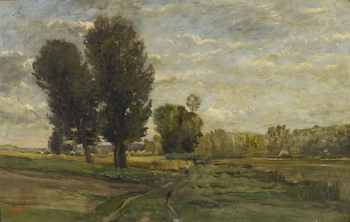 Auvers, les Plumets, 1873 by Charles François Daubigny (French, 1817 - 1878)