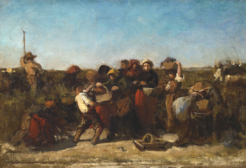The Vintage at Château Lagrange, c. 1862 by Jules Breton (French, 1827 - 1906)