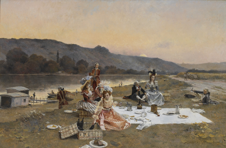 The Picnic, 1885 by François Flameng (French, 1856 - 1923)