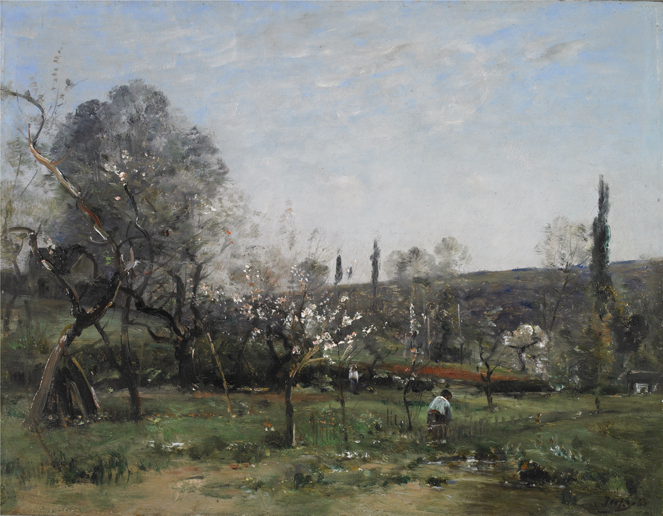 Flowering Appletrees, 1883 by Louis-Aimé  Japy (French, 1840 - 1916)