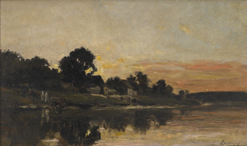 Sunset by Charles François Daubigny (French, 1817 - 1878)