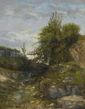 Landscape near Ornans (or the Swiss Jura), 1873 by Gustave Courbet (French, 1819 - 1877)