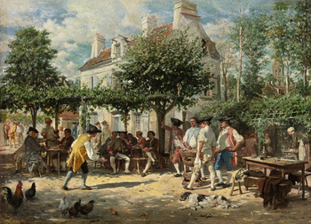 Sunday in Poissy, 1850 by Jean-Louis-Ernest Meissonier (French, 1815 - 1891)