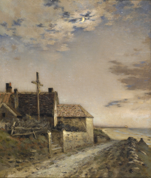 Road by the Sea by Jean-Charles Cazin (French, 1841 - 1901)
