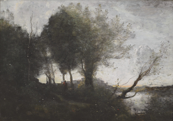 Souvenir des Bords du Lac de Garde, c. 1865-1872 by Jean-Baptiste-Camille Corot (French, 1796 - 1875)
