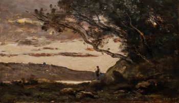 L'Aube (Dawn), circa 1865-70 by Jean-Baptiste-Camille Corot (French, 1796 - 1875)