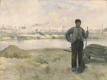 The Sweeper, circa 1879 by Jean-François Raffaëlli (French, 1850 - 1924)