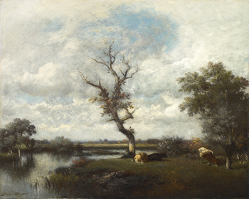 River, pastures near the Oise (Une Rivière - Pâturages près de l'Oise) by Jules Dupré (French, 1811 - 1869)